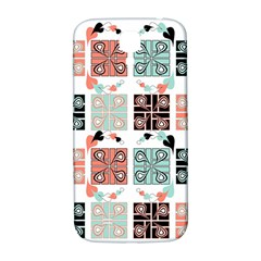 Mint Black Coral Heart Paisley Samsung Galaxy S4 I9500/I9505  Hardshell Back Case