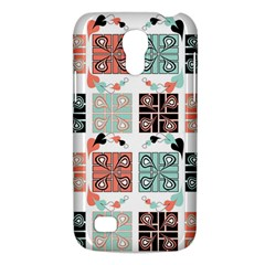 Mint Black Coral Heart Paisley Galaxy S4 Mini