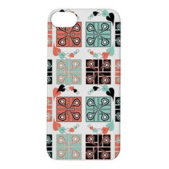 Mint Black Coral Heart Paisley Apple iPhone 5S/ SE Hardshell Case