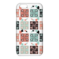 Mint Black Coral Heart Paisley iPhone 6/6S TPU Case