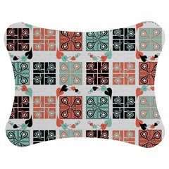 Mint Black Coral Heart Paisley Jigsaw Puzzle Photo Stand (Bow)