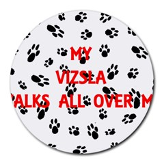 My Vizsla Walks On Me  Round Mousepads