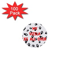 My Vizsla Walks On Me  1  Mini Buttons (100 pack)
