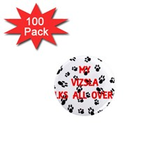 My Vizsla Walks On Me  1  Mini Magnets (100 pack)