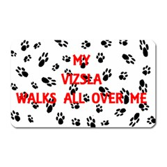 My Vizsla Walks On Me  Magnet (Rectangular)