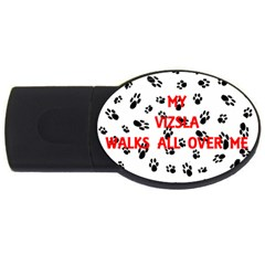 My Vizsla Walks On Me  USB Flash Drive Oval (2 GB)