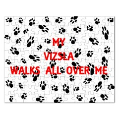 My Vizsla Walks On Me  Rectangular Jigsaw Puzzl