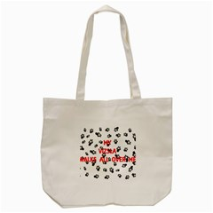 My Vizsla Walks On Me  Tote Bag (Cream)