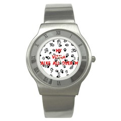 My Vizsla Walks On Me  Stainless Steel Watch