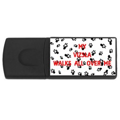 My Vizsla Walks On Me  USB Flash Drive Rectangular (4 GB)