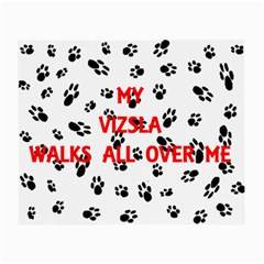My Vizsla Walks On Me  Small Glasses Cloth (2-Side)