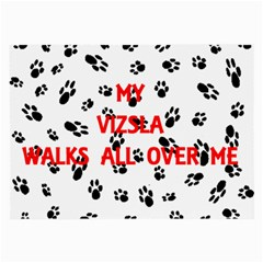 My Vizsla Walks On Me  Large Glasses Cloth (2-Side)