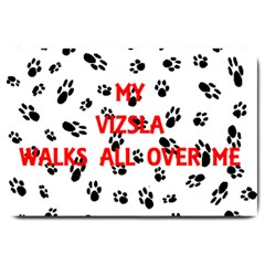 My Vizsla Walks On Me  Large Doormat