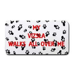 My Vizsla Walks On Me  Medium Bar Mats