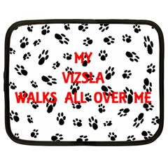 My Vizsla Walks On Me  Netbook Case (Large)