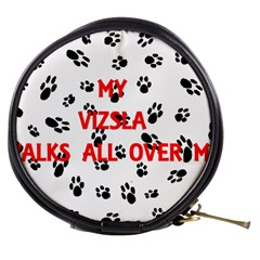 My Vizsla Walks On Me  Mini Makeup Bags