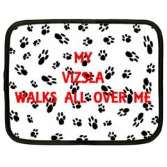 My Vizsla Walks On Me  Netbook Case (XXL)