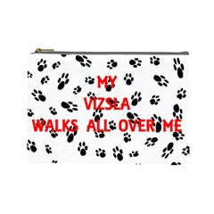 My Vizsla Walks On Me  Cosmetic Bag (Large)