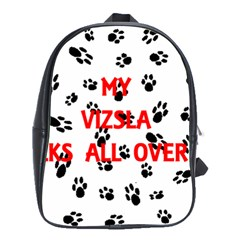 My Vizsla Walks On Me  School Bags(Large)