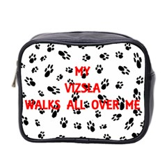 My Vizsla Walks On Me  Mini Toiletries Bag 2-Side