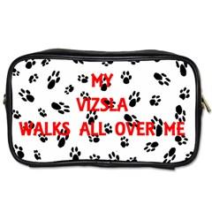 My Vizsla Walks On Me  Toiletries Bags 2-Side