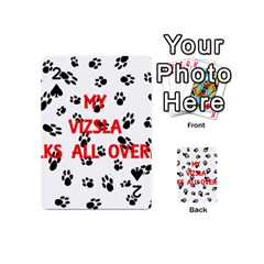 My Vizsla Walks On Me  Playing Cards 54 (Mini)
