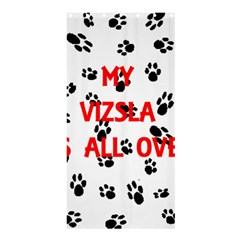 My Vizsla Walks On Me  Shower Curtain 36  x 72  (Stall)