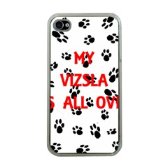 My Vizsla Walks On Me  Apple iPhone 4 Case (Clear)