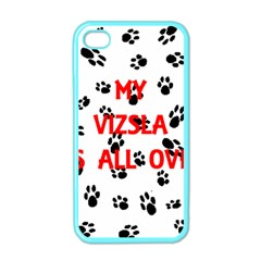 My Vizsla Walks On Me  Apple iPhone 4 Case (Color)