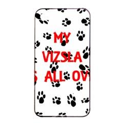 My Vizsla Walks On Me  Apple iPhone 4/4s Seamless Case (Black)