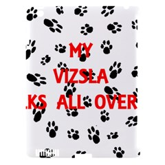 My Vizsla Walks On Me  Apple iPad 3/4 Hardshell Case (Compatible with Smart Cover)