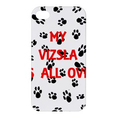 My Vizsla Walks On Me  Apple iPhone 4/4S Premium Hardshell Case