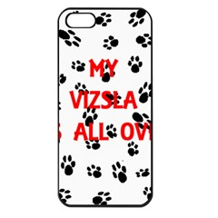 My Vizsla Walks On Me  Apple iPhone 5 Seamless Case (Black)