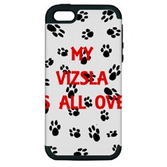 My Vizsla Walks On Me  Apple iPhone 5 Hardshell Case (PC+Silicone)
