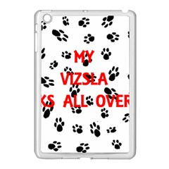 My Vizsla Walks On Me  Apple iPad Mini Case (White)