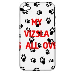 My Vizsla Walks On Me  Apple iPhone 4/4S Hardshell Case (PC+Silicone)