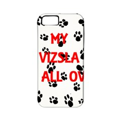 My Vizsla Walks On Me  Apple iPhone 5 Classic Hardshell Case (PC+Silicone)