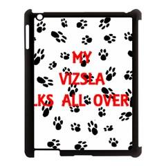 My Vizsla Walks On Me  Apple iPad 3/4 Case (Black)