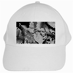 Mosaic Stones Glass Pattern White Cap