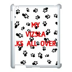 My Vizsla Walks On Me  Apple iPad 3/4 Case (White)