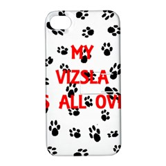 My Vizsla Walks On Me  Apple iPhone 4/4S Hardshell Case with Stand