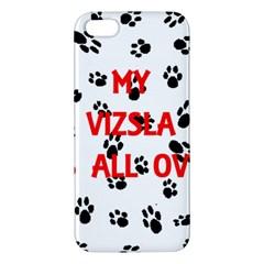 My Vizsla Walks On Me  Apple iPhone 5 Premium Hardshell Case
