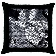 Mosaic Stones Glass Pattern Throw Pillow Case (Black)