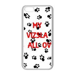 My Vizsla Walks On Me  Apple iPhone 5C Seamless Case (White)