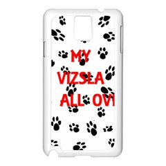 My Vizsla Walks On Me  Samsung Galaxy Note 3 N9005 Case (White)