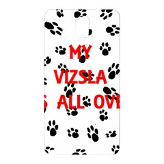 My Vizsla Walks On Me  Samsung Galaxy Note 3 N9005 Hardshell Back Case