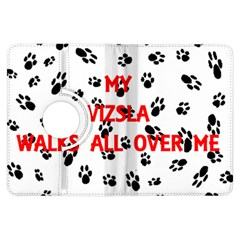 My Vizsla Walks On Me  Kindle Fire HDX Flip 360 Case