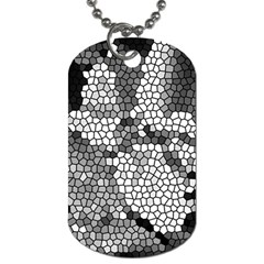 Mosaic Stones Glass Pattern Dog Tag (One Side)