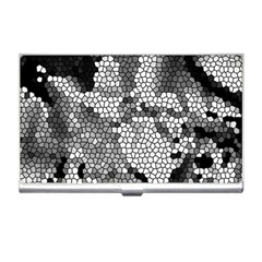 Mosaic Stones Glass Pattern Business Card Holders
