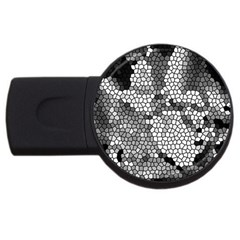 Mosaic Stones Glass Pattern USB Flash Drive Round (1 GB)